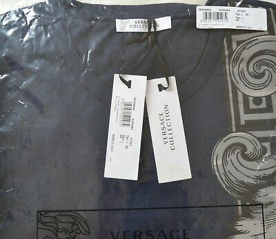 100/% AUTHENTIC VERSACE T-SHIRT V800683S BRAND NEW WITH TAG IN VERSACE POLYBAG