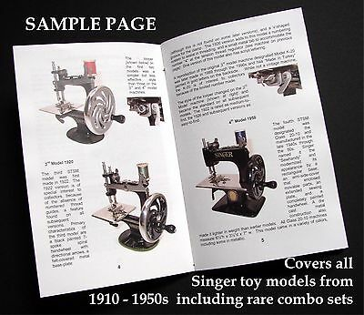 Singer 20 Toy Child Sewing Machine COLLECTOR/'S GUIDE /& USER/'S GUIDE
