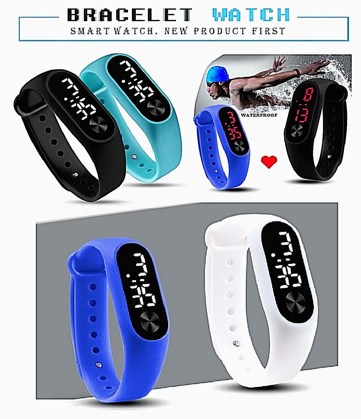 Orologio bracciale da polso uomo/donna/bambini unisex digitale sport vari colori 2