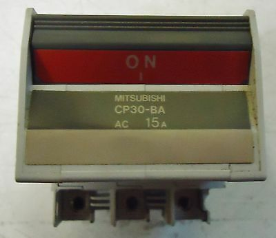 Mitsubishi Circuit Protector M/n Cp30-Ba, 3 Pole, Ac 15A,s/n B9111 Made In Japan 2
