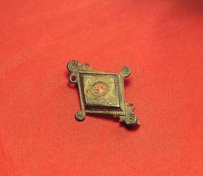Fine Ancient Roman Enamelled Fibula or Brooch, 2. Century 2