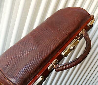 Antike Leder Arzttasche Doktortasche Tasche Sacvoyage Hebammentasche um 1900 9