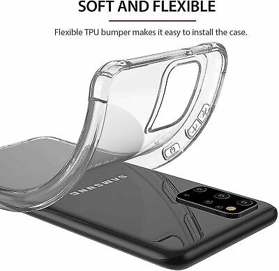 For Samsung Galaxy S20 S20+ Ultra S10 S10+ S10E Heavy Duty Soft Clear Case Cover 11