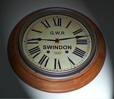 Great Western Railway GWR Victorian Style Wooden Clock, Swindon Station 2
