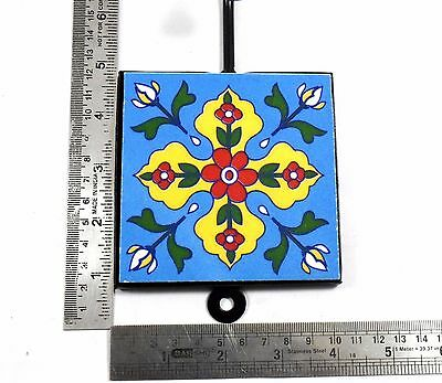 Vintage Handmade Beautiful Ceramic Tile Wall Hanging Hook Decorative. i75-51 UK 7