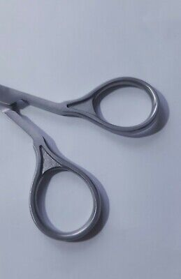 Professional SUPER SHARP CURVED EDGE CUTICLE NAIL SCISSOR SATIN STAINLESS STEEL 3