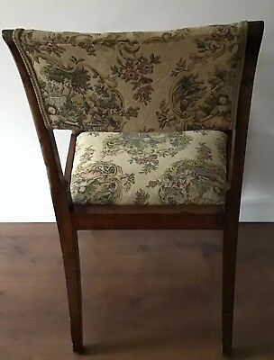 Antique Regency Mahogany Carver Chair With Downswept Arms And Lift Off Seat 3