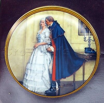 Knowles Plate Rockwell/'s Colonials Unexpected Proposal