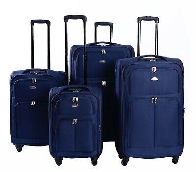 Koffer Stoff Stoffkoffer Trolleys Kofferset Reisekoffer Weichschalen M L XL XXL 2