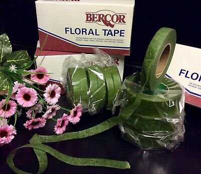 """Green Florist Tape"" 12 Sticky Stretchy. Corsage-Bouquets-Stems, Flowers, Crafts 5"