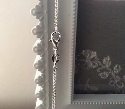 Genuine 925 Solid Silver Curb Chain Necklace Lobster Clasp All Inch 16000Sold 3