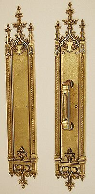 Solid Brass Architectural Door Hardware, Pull Plate - Vintage Designed