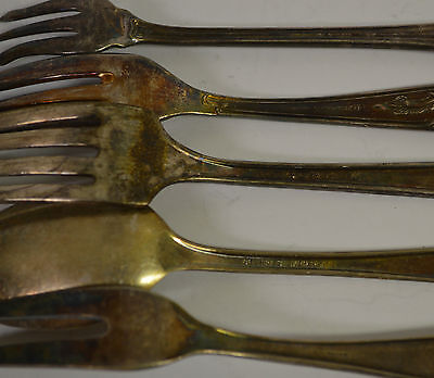 Silver Plated Mixed Lot Teaspoon Fork Flatware