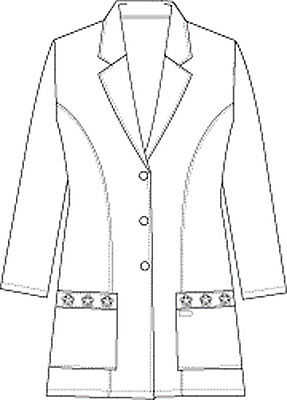 white cherokee women s 29 lab coat 2390 whts 26 48 picclick Girl in an Open Coat 4 of 6 white cherokee women s 29 lab coat 2390 whts