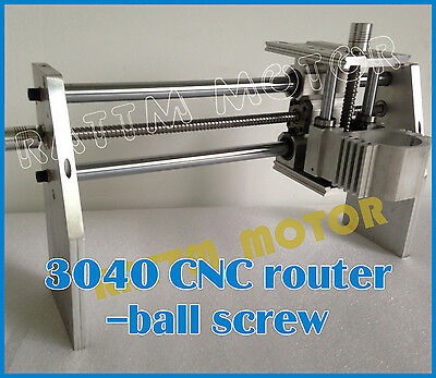 3040 300W Spindle Ball Screw Desktop CNC Router Milling Engraving Machine Frame 9