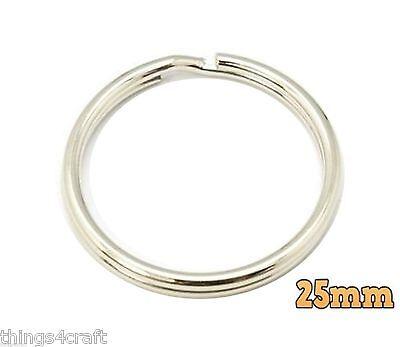 """Key Rings 25mm - Split Ring Standard 1"""" keyring UK Seller 3"""