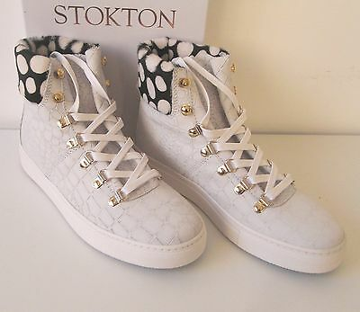 ... Scarpe STOKTON Sneakers pelle bianca donna n 37 AUTUNNO INVERNO SCONTO  55% 7 67aea5df122