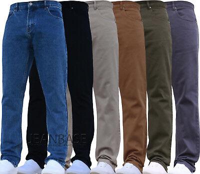 Bnwt New Mens Straight Leg Work Farmers Mechanics Denim Jeans Pants Plain Basic 2