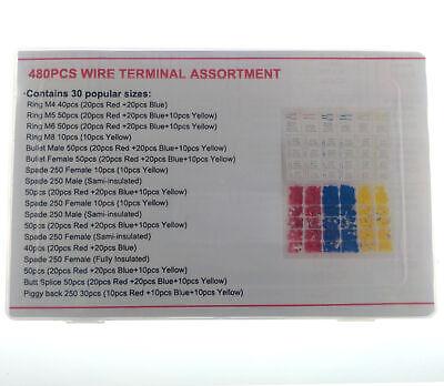 Juego 480 terminales  Electricos aislados, 30 tipos diferentes 5