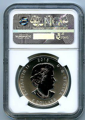 2015 $5 Canada 1Oz Silver Great Horned Owl Ngc Ms70 First Releases Birds Of Prey 2