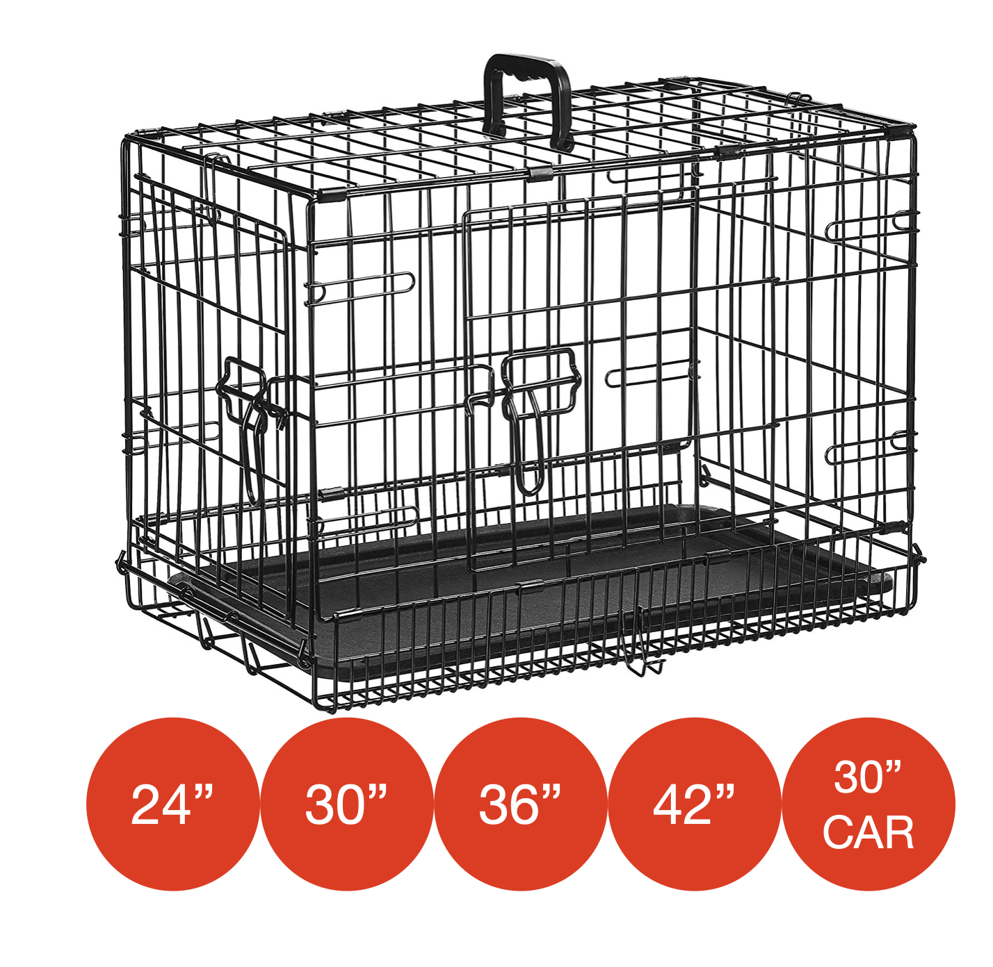 Folding Metal Dog Cage By Mr Barker Puppy Training Crates 5 sizes 24-42 Inch 2