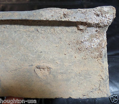 RARE Ancient Chinese Clay Stoneware Tomb Model Cook Stove with Fish! Han Dyn. 9