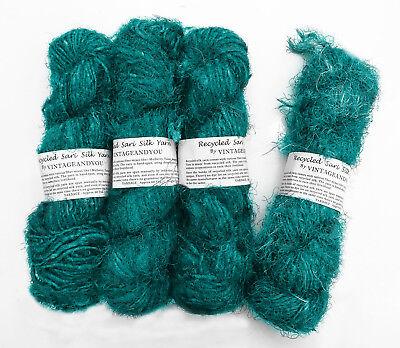 Schmuckherstellung Trim 100g recycelt Sari Seidenband Garn Multicolor