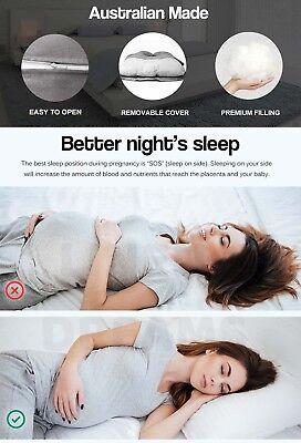 Aus Made Maternity Pillow Pregnancy Nursing Sleeping Body Support Feeding 4