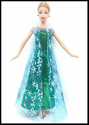 New Barbie doll clothes outfit princess wedding dress gown 2 x Frozen Outfits. 4