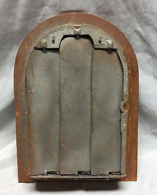 One Antique Cast Iron Arch Top Heat Grate Wall Register 8X12 Dome Vtg 24-19C 6