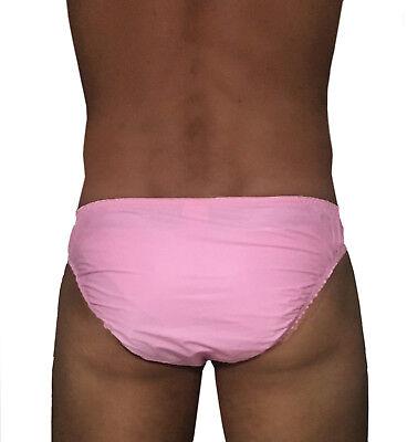 super soft PVC Slip pink Schutzhose Gummihose Windelhose Herren PVC Unterwäsche 2
