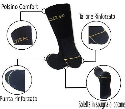 6 Paia Calze Calzini Uomo Da Lavoro Rinforzati Resistenti Work Socks Protect