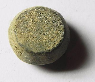 Zurqieh -Aa7132-  Holy Land. Islamic Bronze Weight Of 1/2 Uqiyyah= 15.01Gm 2