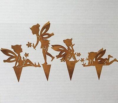 Art.: 67281 Rost Gartenstecker Metall Stecker Dekostecker 78 cm ELFE STEHEND