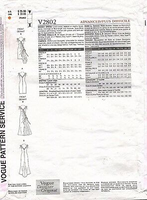 VOGUE Misses' Dress Bellville Sassoon Pattern V2802 Size 12-16 UNCUT 2