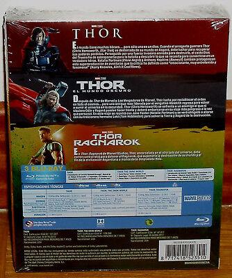 Thor Trilogia 3 Peliculas 3 Blu-Ray Nuevo Precintado Aventuras (Sin Abrir) R2 2