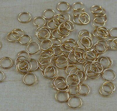 250 gold Spaltringe 10 mm Biegeringe Verbindungsringe  5022