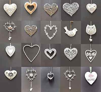 Vintage Style Shabby & Chic Wedding Hanging Hearts Heart Home Decoration Gift 6
