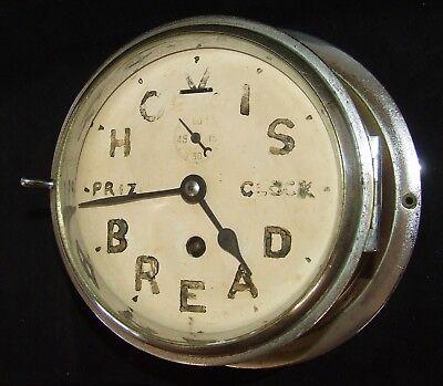 Ship Style Chrome HOVIS BREAD PRIZE CLOCK Advertising Clock BRAVINGTONS LONDON 3