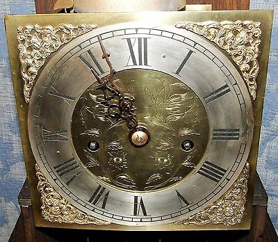 Antique Oak Grandmother / Miniature Grandfather Clock : Weight Driven Movement 6