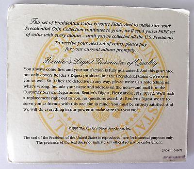 Un Monedas Historia U. S. Presidentes 19 Menta en Latón Macizo el Álbum Incluido 4