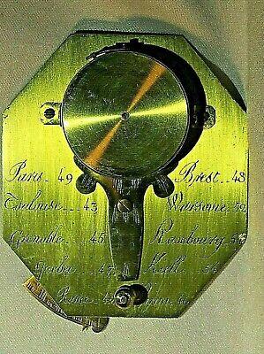 Antique French Brass Cased Pocket Sundial, circa 18th Century 7