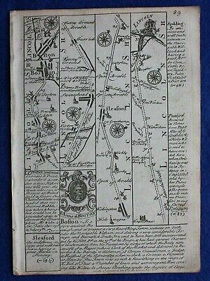 Original antique map STAFFORDSHIRE, from 'Britannia Depicta', Bowen, c.1724 2