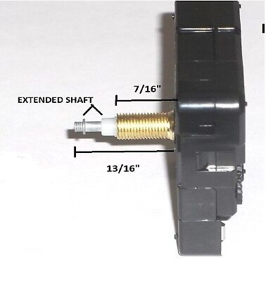 "High Torque Clock Movement (Silent) Extended Shaft w/Large 17-3/4"" Hands (#11)"