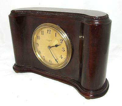 Antique Mahogany Bracket Mantel Clock : H. LEE & SONS HULL (a76) 2