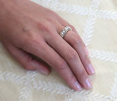 bb3308840 ... Tiffany & Co Schlumberger Sixteen Stone Diamond Ring Platinum+Gold Sz  5.5 3