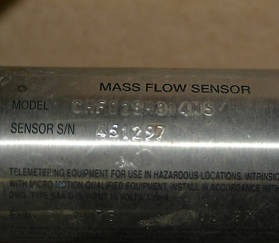 MICRO MOTION Elite Series Mass Flow Sensor CMF025M314NS 1/2""