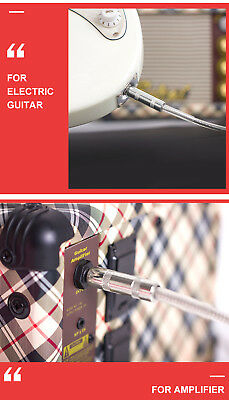 Kmise Guitar Cable Bass Lead Cord Patch Cable OFC 22 AWG Noiseless 1/4 Mono Jack