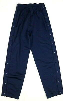 ADIDAS Men's Basketball Pants Small Navy Blue Button Snap Tear Away S 6