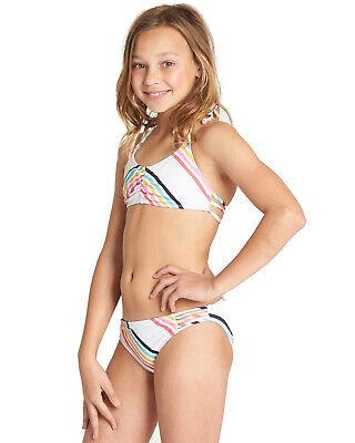 Costume da bagno due pezzi bambina Billabong bikini mare ragazza costumi junior 5
